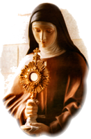 clare and the blessed sacrament